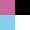 Raspberry/Black/Turquoise/White