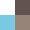 White/Brown/Turquoise/Tan