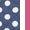 Navy/Hot Pink Dot