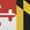 Maryland Flag/Black Buckle