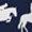 Equestrian Geometric/Navy Buckle