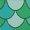 Mermaid Scales/Turquoise Buckle