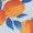 Orange Print/Light Blue