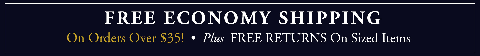 Free Economy Shipping