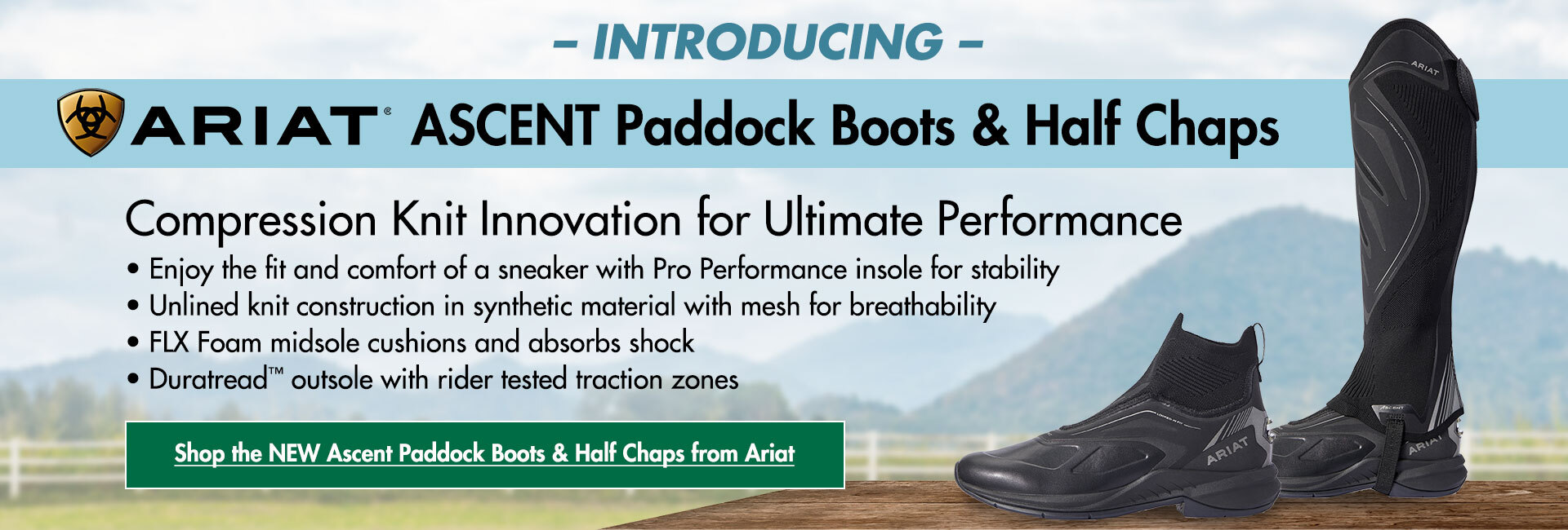 Introducing the Ariat Ascent Paddock Boot & Half Chaps