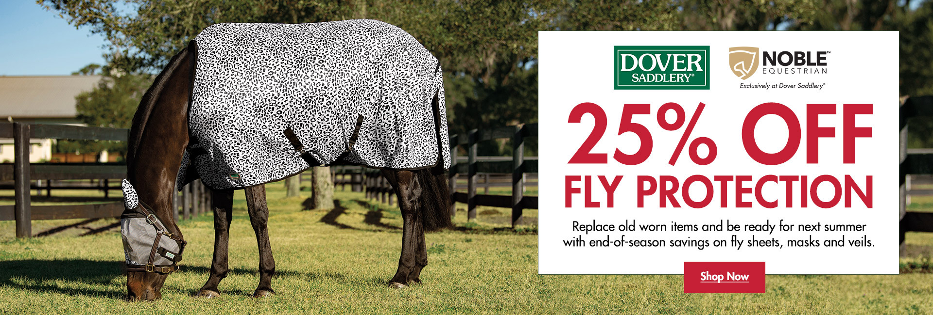 25% OFF Dover Saddlery & Noble Equestrian Fly