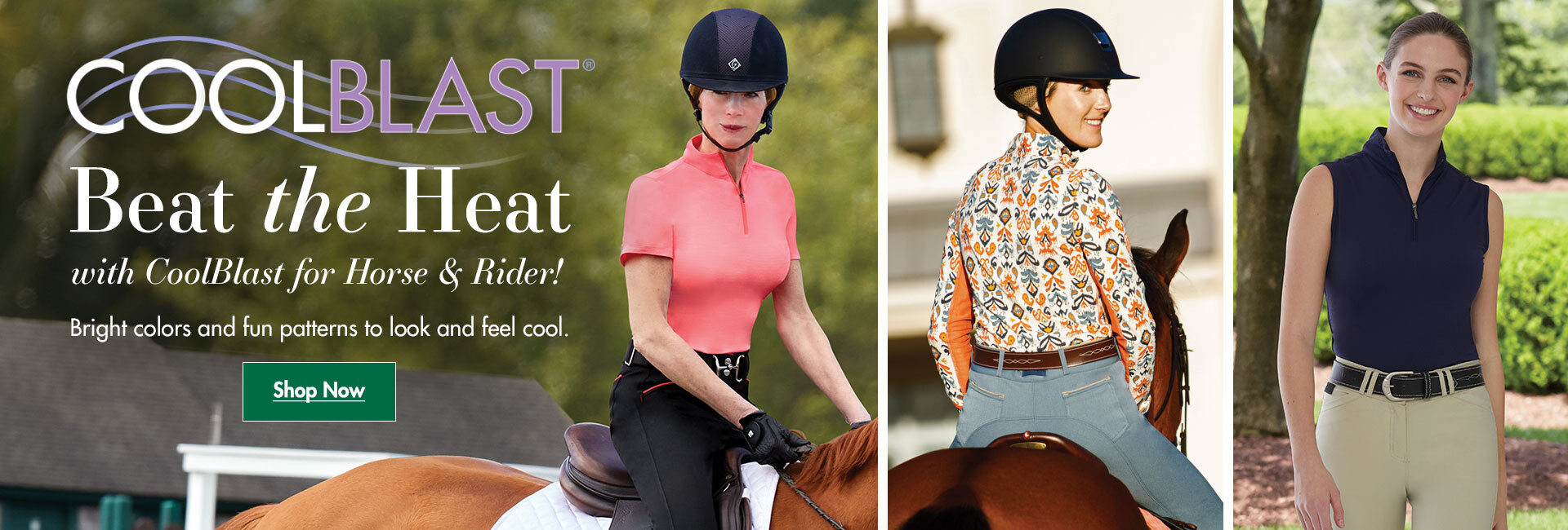 Beat the Heat with Coolblast for Horse & Rider!