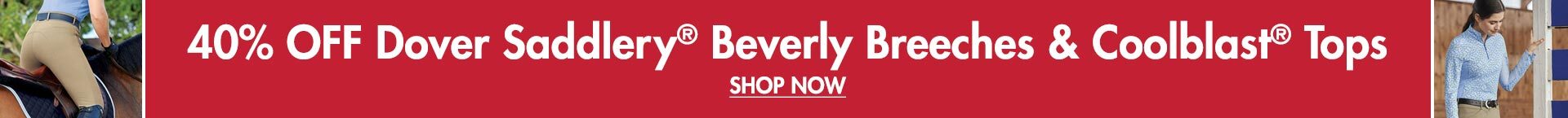 Sub Desktop: 40% Off Beverly Breeches & Coolblast Tops