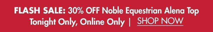 30% OFF Noble Equestrian™ Alena Quarter-Zip Top