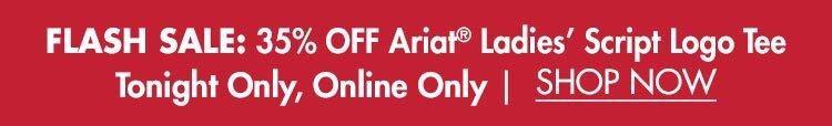 35% OFF Ariat® Script Logo Tee