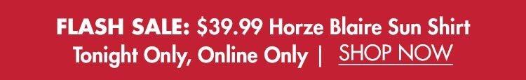 Flash Sale: $39.99 Horze Blaire Long Sleeve Sun Shirt