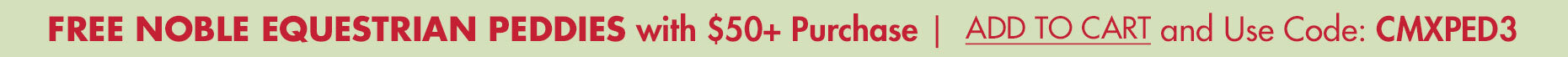 FREE Noble Peddies w/ $50+