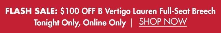 Flash Sale: $100 OFF B Vertigo Ladies' Lauren Silicone Grip Full-Seat Breech