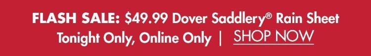 Flash Sale: $49.99 Dover Saddlery® Rain Sheet