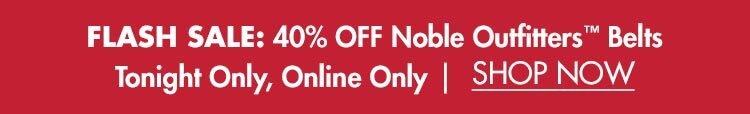Flash Sale: 40% OFF Noble Belts