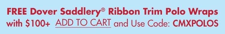 FREE DS Ribbon Trim Polos w/ $100+