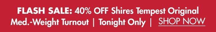 Flash Sale: 40% OFF Shires Tempest Original Medium-Weight Turnout