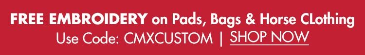 FREE Embroidery on Saddle Pads, Bags & Horse Clothing!