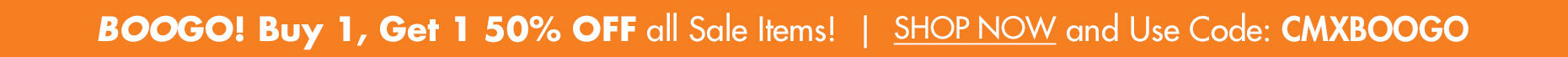 BOOGO! Buy one, get one 50% OFF all Orange Ticket Sale Items