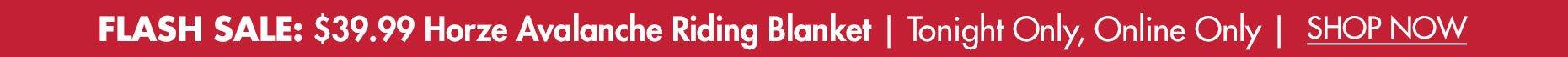 Flash Sale -  $39.99 Horze Avalanche Medium-Weight Riding Blanket