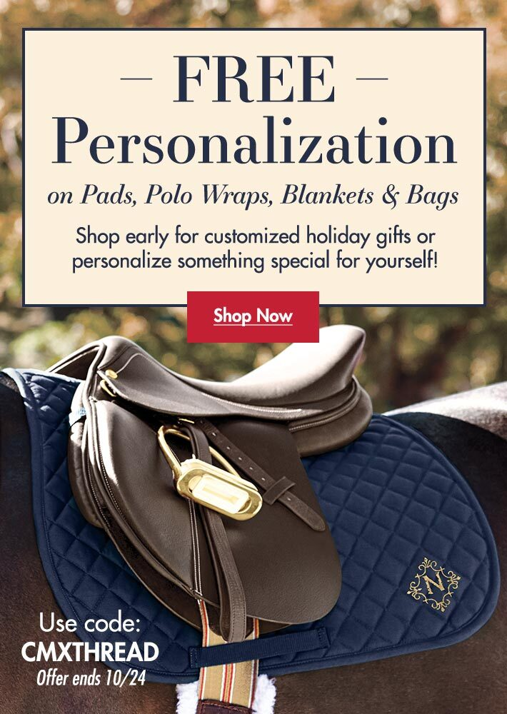 FREE Monogramming on Pads, Polo Wraps, Blankets & Bags!