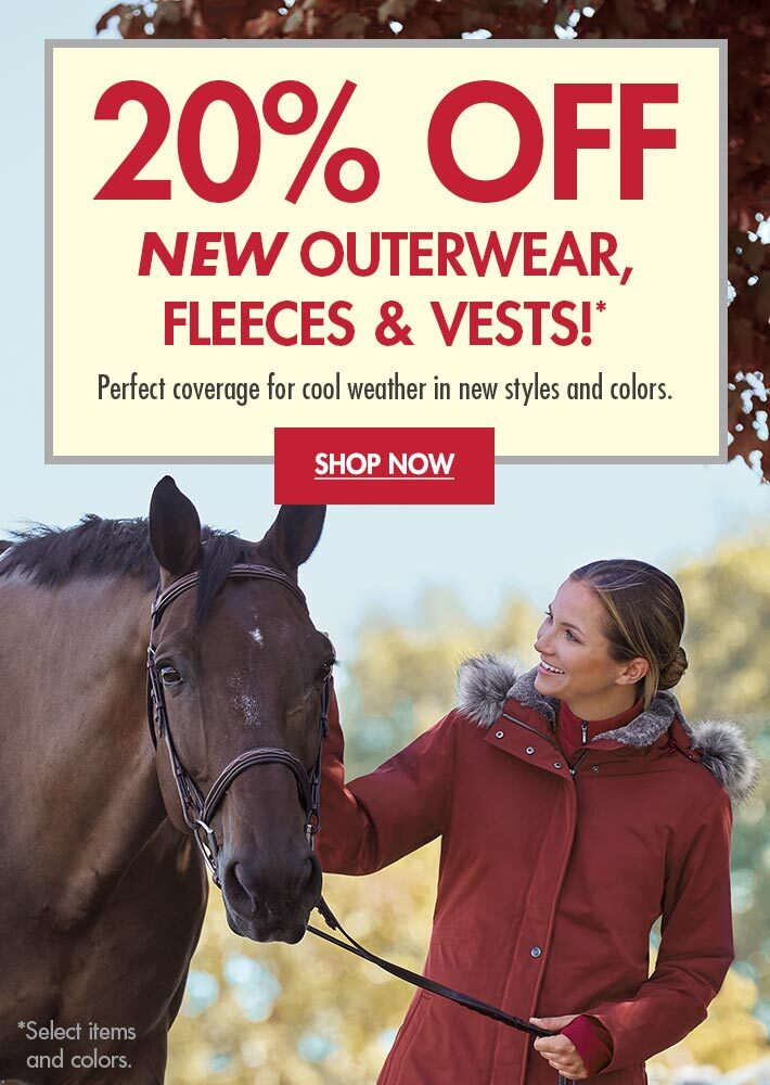 20% OFF New Outerwear, Fleeces & Vests!