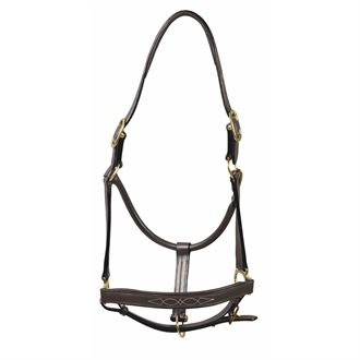 Henri de Rivel Pro Fancy Padded Rolled Throat Triple-Stitched Halter