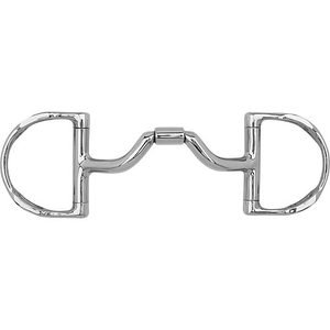 Myler® Ported Barrel D-Ring Bit with Hooks MB 33