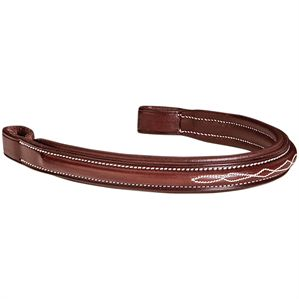 Dover Saddlery® Fancy-Stitched Padded Browband