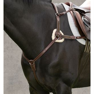 Henri de Rivel Pro 5-Point Elastic Breastplate Martingale with Running Attachment