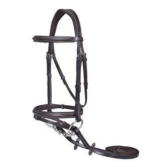 Henri de Rivel Pro Plain Raised Bridle with Flash & Rubber Reins