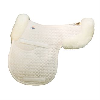 Mattes Gold Wool Contour Pad with Bare Flaps and Rear Trim