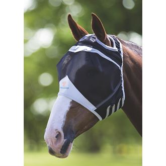 Shires Fine Mesh Fly Mask (Ear Holes)