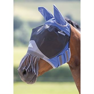 Shires Deluxe Fly Mask with Ears & Nose Fringe