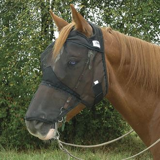 Quiet Ride™ Fly Mask Long No Ears