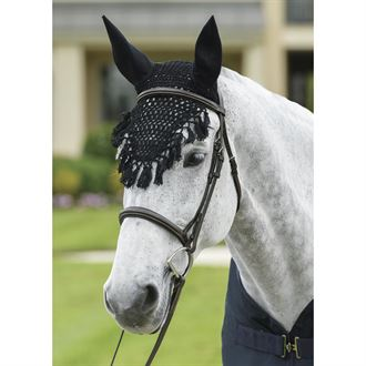 Rider's International by Dover Saddlery® Crochet Fly Bonnet with Tassels