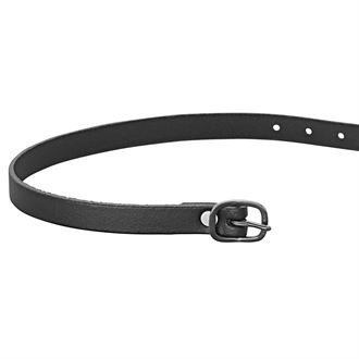 Herm Sprenger Black Buckle Leather Spur Straps