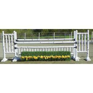 Burlingham Sports Birch Oxer with Hedge - 10'