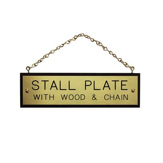 Walnut Plaque with Brass Chain