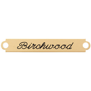 Fancy Bridle Nameplate