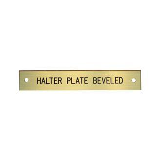 Beveled Halter Plate- 1-2 Lines