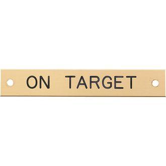 Beveled Edge Halter Nameplate - 3 lines