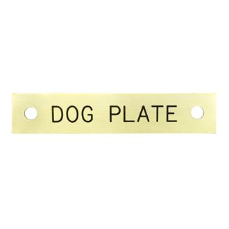 Rectangular Dog Collar Nameplate