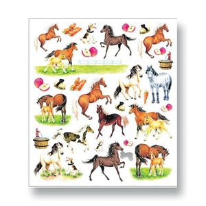 Kelley and Company Colorful Horse Stickers