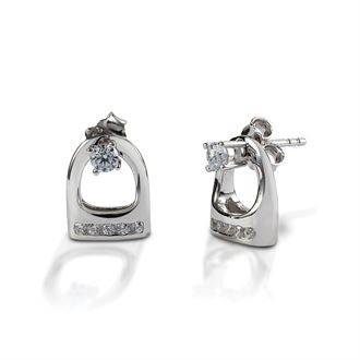 Kelly Herd English Stirrup Earring Jackets with Studs
