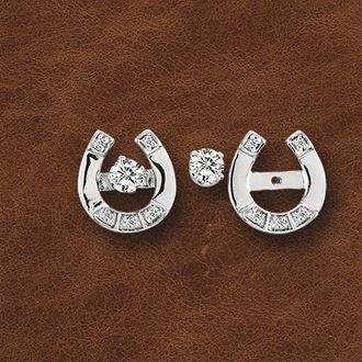 Kelly Herd Horseshoe Earring Jackets with Studs