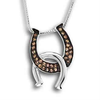 Kelly Herd Double Horseshoe Necklace - Colors