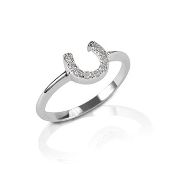 Kelly Herd Clear Horseshoe Ring