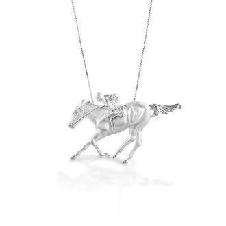 Kelly Herd Race Horse & Jockey Necklace I