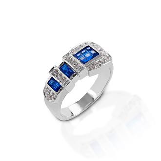 Kelly Herd Blue Ranger Style Buckle Ring